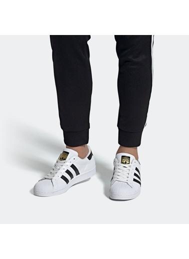 adidas Erkek Superstar Sneakers EG4958 Beyaz